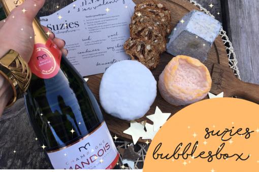 Suzies Bubbles Box kaasbox oud en nieuw oudjaarsavond